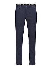 Slim-Fit Linen Cotton Trousers Skinny Jeans Blå MANGO MAN