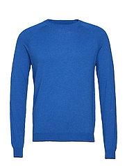 Cotton cashmere-blend sweater - MEDIUM BLUE