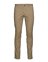 Slim-fit chinos trousers - LIGHT BEIGE