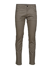 Slim-fit 5 pocket cotton trousers - GREY