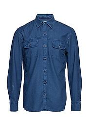 Regular-fit denim overshirt