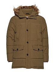 Faux-fur quilted coat - BEIGE - KHAKI