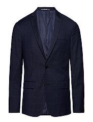 Super Slim-Fit Checked Tailored Blazer Blazer Kavaj Blå MANGO MAN