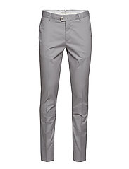 Slim fit serge chino trousers - GREY