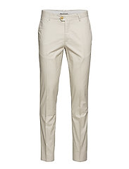 Slim fit serge chino trousers - LIGHT BEIGE