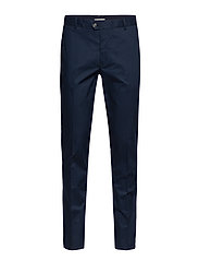 Slim fit serge chino trousers - NAVY