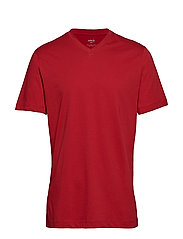 V-neck cotton t-shirt - RED