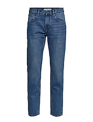 Regular Fit Medium Wash Bob Jeans Jeans Blå MANGO MAN