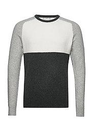 Textured cotton wool-blend sweater - MEDIUM GREY