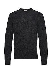 Textured wool-blend sweater - DARK GREY