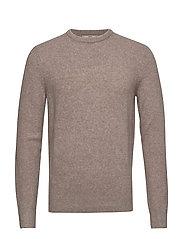 Textured wool-blend sweater - LIGHT BEIGE