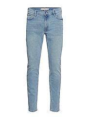 Slim Fit Light Wash Jan Jeans Skinny Jeans Blå MANGO MAN