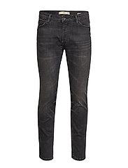 Slim Fit Grey Tim Jeans Slimmade Jeans Svart MANGO MAN