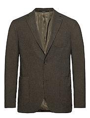 Slim fit houndstooth suit blazer - GREEN