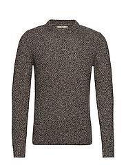 Openwork cotton sweater - MEDIUM GREY