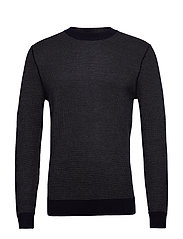 Structured wool sweater - NAVY