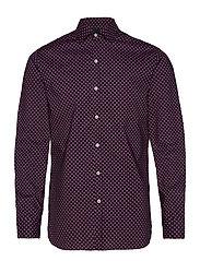 Slim fit floral print shirt - NAVY