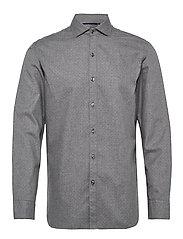 Slim fit polka-dot cotton shirt - GREY