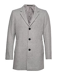 Flecked wool Tailored coat - NATURAL WHITE