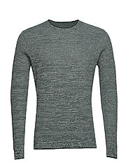 Flecked structure cotton sweater - GREEN