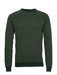 Elbow-patch cotton sweater - GREEN