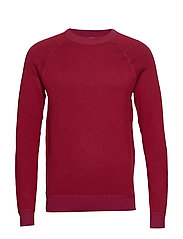 Elbow-patch cotton sweater - RED