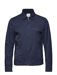 Zipper cotton jacket - NAVY