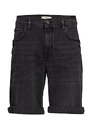 Black Washed Denim Bermuda Short Jeansshorts Denimshorts Svart MANGO MAN