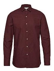 Slim fit herringbone shirt - DARK RED