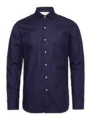 Slim fit herringbone shirt - NAVY