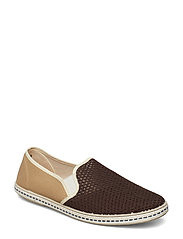 Slip-On Fishnet Shoes Espadriller Skor Brun MANGO MAN