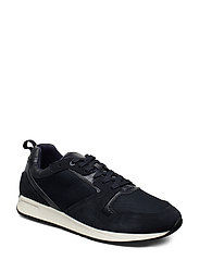 Suede mixed sneakers - MEDIUM BLUE