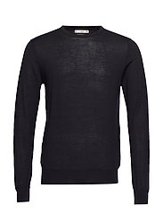 100% merino wool washable sweater - BLACK