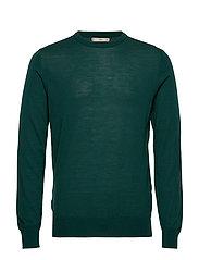 100% merino wool washable sweater - DARK GREEN