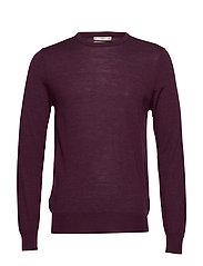 100% merino wool washable sweater - DARK RED