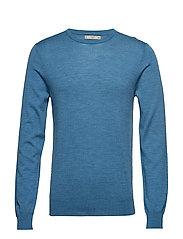 100% merino wool washable sweater - LT-PASTEL BLUE