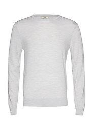 100% merino wool washable sweater - LT PASTEL GREY