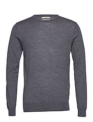 100% merino wool washable sweater - MEDIUM GREY