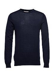 100% merino wool washable sweater - NAVY