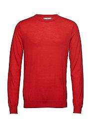 100% merino wool washable sweater - RED