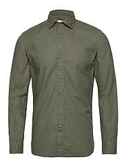 Slim fit pearl buttons shirt - BEIGE - KHAKI