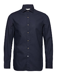 Slim fit pearl buttons shirt - NAVY