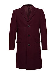 Tailored lapels wool coat - DARK RED