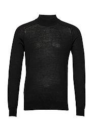 100% merino wool sweater - BLACK