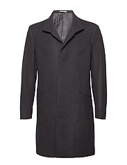Wool tailored coat - BLACK