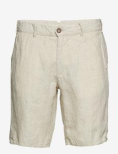 Linen chino bermuda shorts - NATURAL WHITE