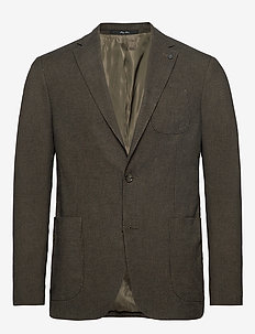 Slim fit houndstooth suit blazer - GREEN