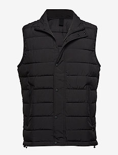 Ultra-light quilted gilet - BLACK