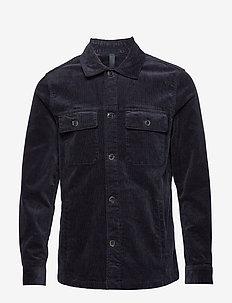 Corduroy cotton jacket - NAVY