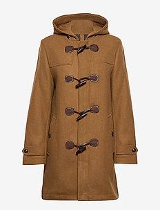 Toggle wool coat - MEDIUM BROWN